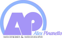 Logo of Alex Pinarello - web designer and web developer